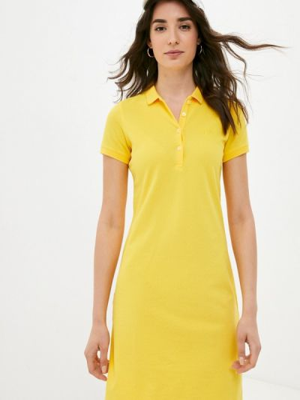 Желтое платье Galvanni