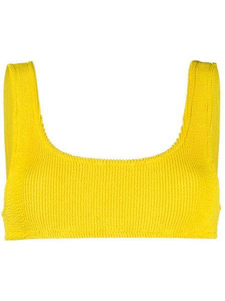 Пляжные желтые бикини эластичные с вырезом Mc2 Saint Barth