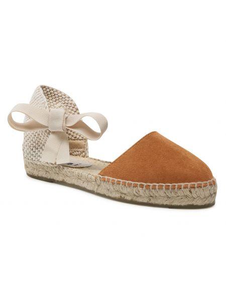 Brązowe sandały zamszowe Manebi