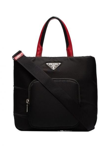 Skórzana torebka średnia na ramię Prada