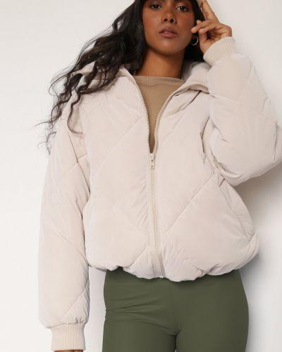 Beżowa kurtka materiałowa Renee