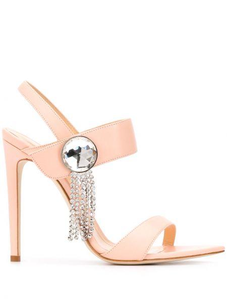 Розовые открытые босоножки с открытой пяткой с открытым носком Chloe Gosselin