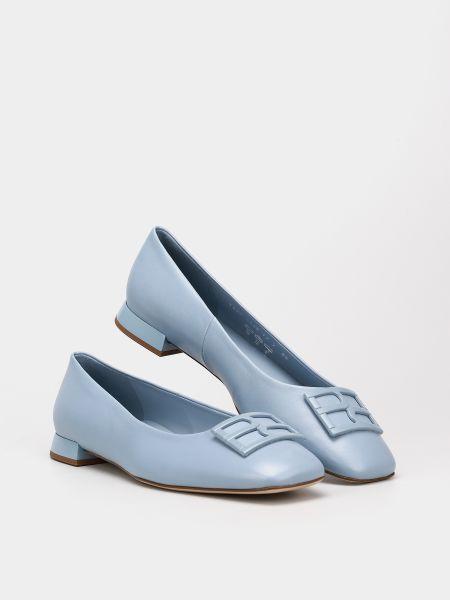 Кожаные балетки - голубые Hogl