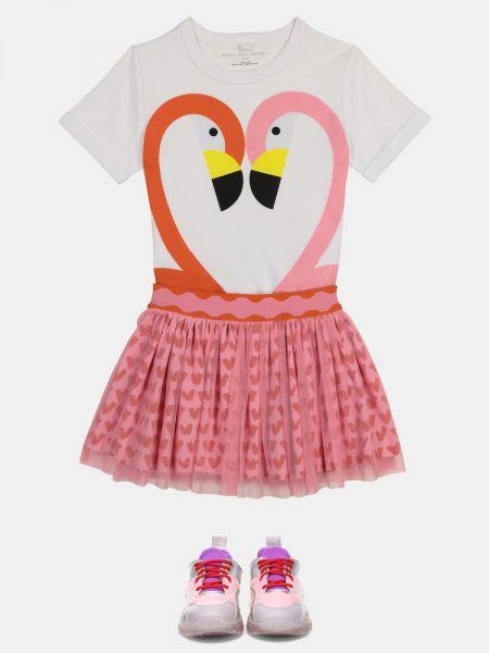 Różowa spódnica tiulowa Stella Mccartney Kids