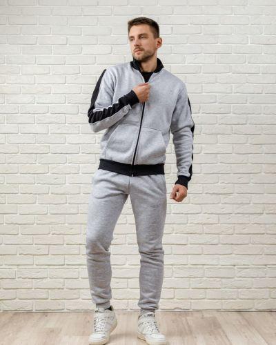 Теплый спортивный костюм - серый Kml