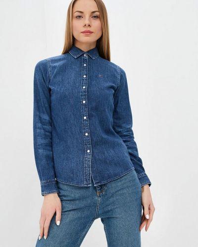 Синяя джинсовая рубашка Tommy Hilfiger