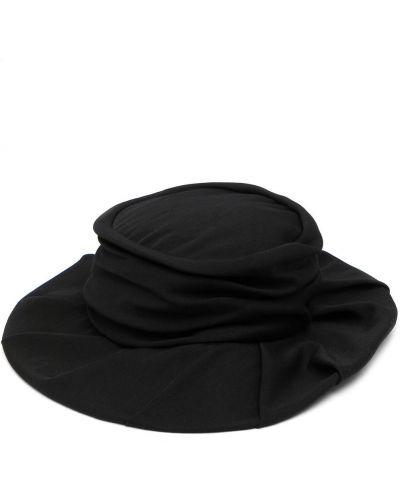 Czarny kapelusz wełniany Ys