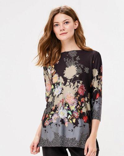 Блузка с длинным рукавом весенний черная Арт-Деко
