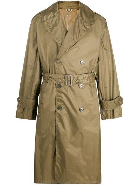 Зеленый длинное пальто с карманами двубортный A.n.g.e.l.o. Vintage Cult