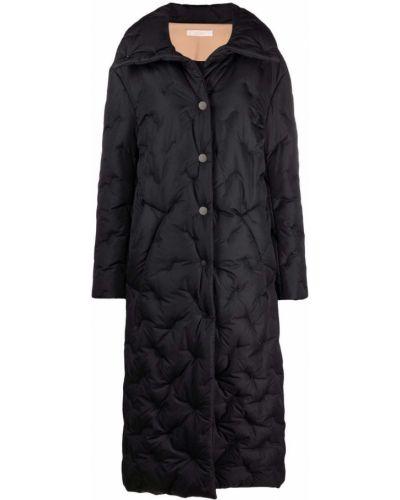 Черное пальто с карманами Ssheena
