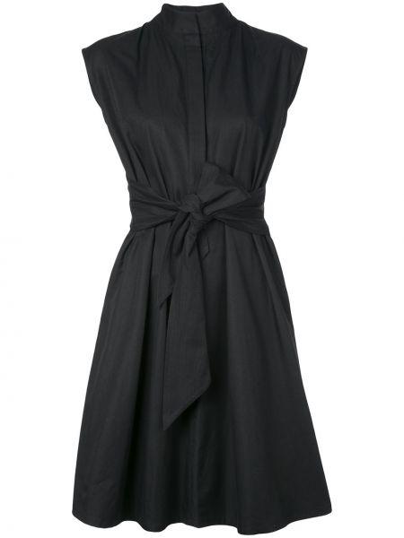 Платье на пуговицах с воротником с карманами без рукавов Natori