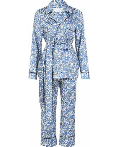 Костюм из полиэстера - голубой Victoria Beckham