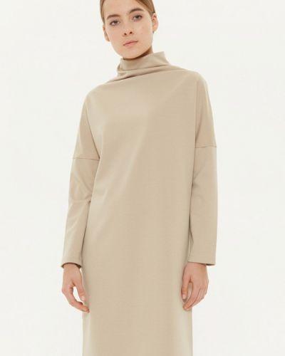 Платье осеннее бежевое Base Forms