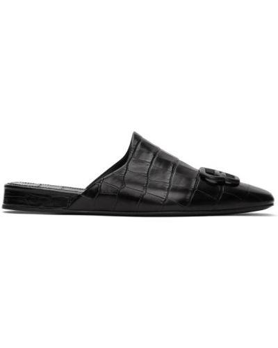 Тапочки черные кожаные Balenciaga