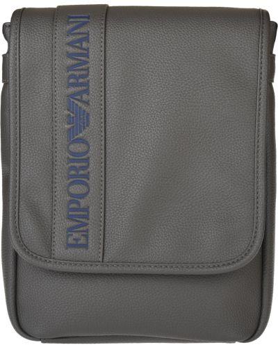 Кожаная сумка - серая Emporio Armani