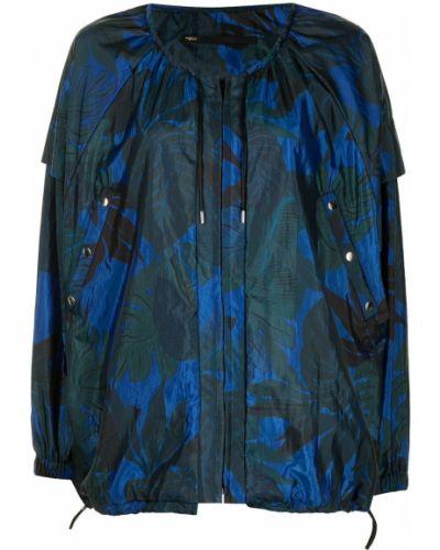 Прямое синее пальто на молнии Muller Of Yoshiokubo