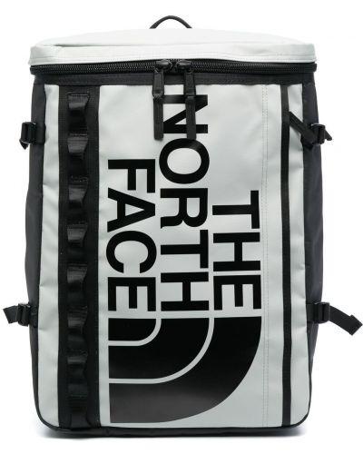 Czarny plecak z nylonu z printem The North Face