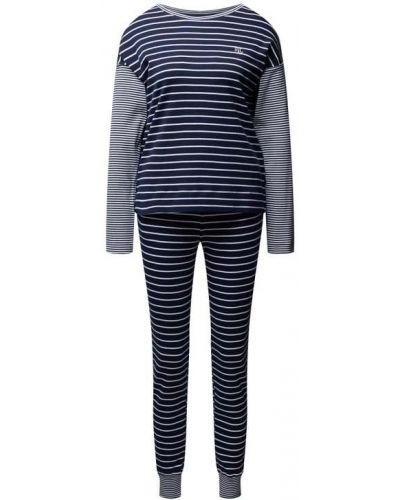 Piżama z długimi rękawami - niebieska Lauren Ralph Lauren