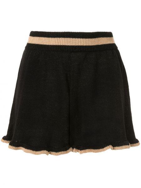 Черные короткие шорты эластичные металлические Suboo