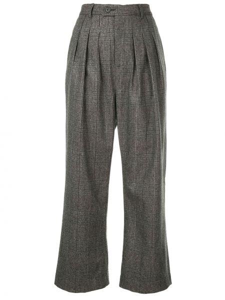 Расклешенные укороченные брюки с воротником с поясом Strateas Carlucci