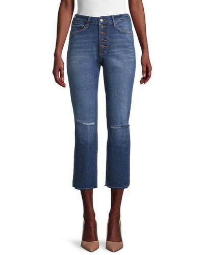 Прямые синие укороченные джинсы с карманами True Religion