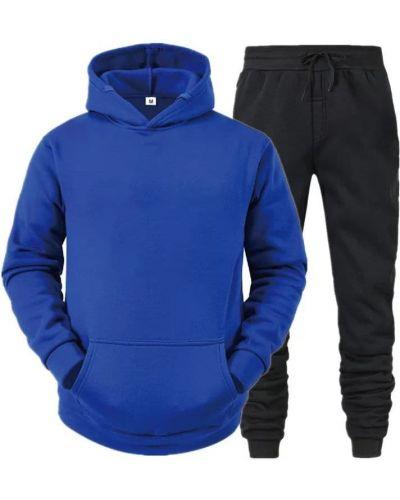 Теплый спортивный костюм - синий Fashion Man
