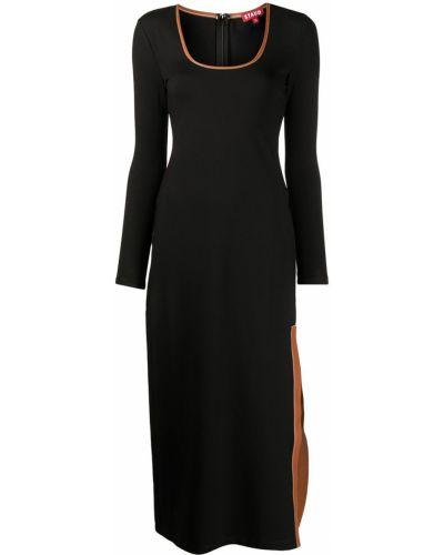Платье миди до колена - черное Staud