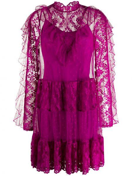 Платье макси со вставками с оборками Temperley London