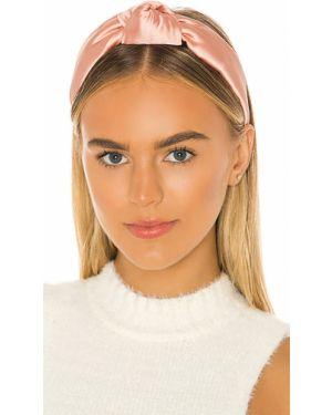 Różowy kapelusz z jedwabiu Lele Sadoughi