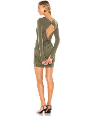 Sukienka mini zielona z falbankami Katie May