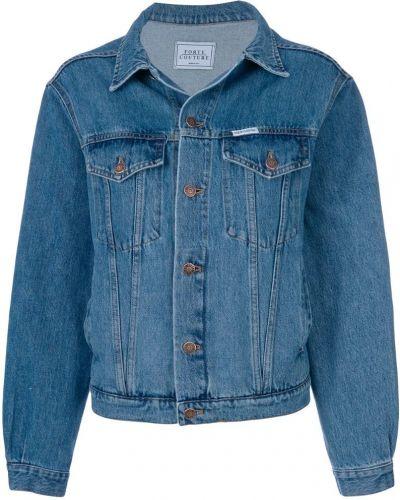 Джинсовая куртка длинная классическая Forte Couture