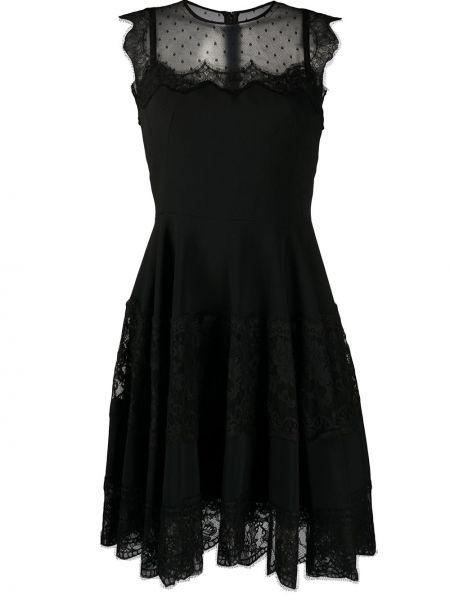 Платье миди в горошек со вставками Dolce & Gabbana