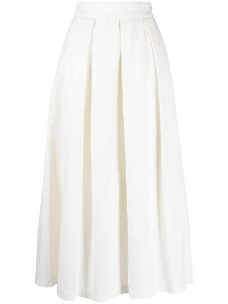 Белая с завышенной талией плиссированная юбка миди Department 5