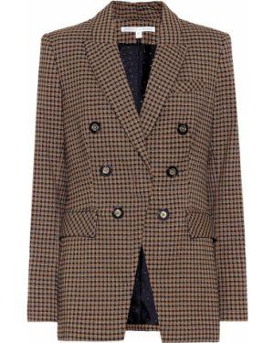 Классический пиджак с узором гусиные лапки Veronica Beard