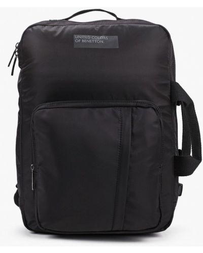 Нейлоновый черный городской рюкзак United Colors Of Benetton