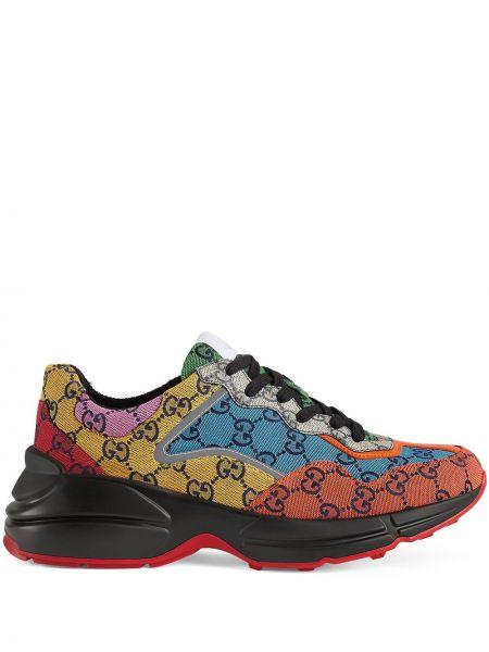 Klasyczne sneakersy koronkowe sznurowane Gucci