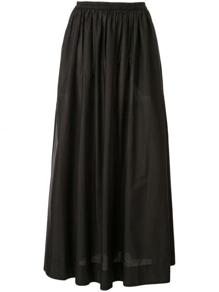 Черная юбка макси с поясом Matteau