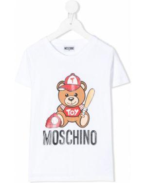 Рубашка стрейч на шею Moschino Kids