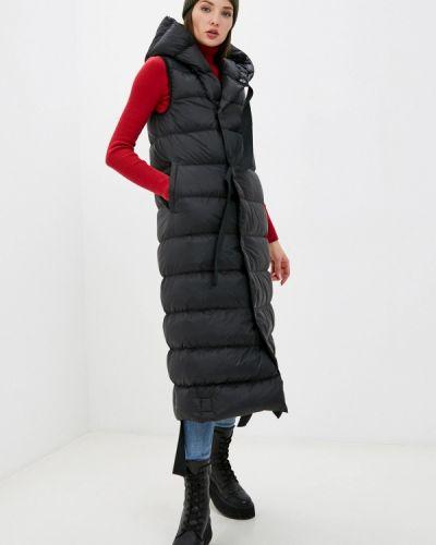 Черная длинная жилетка Silvian Heach