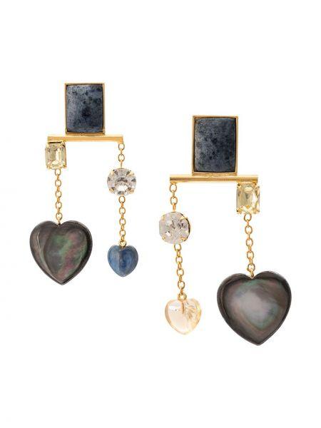 Золотые серьги Lizzie Fortunato Jewels