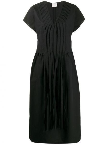 Платье мини с V-образным вырезом со складками Alysi