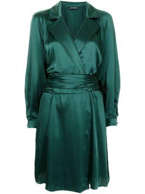 Зеленое платье на пуговицах Emporio Armani