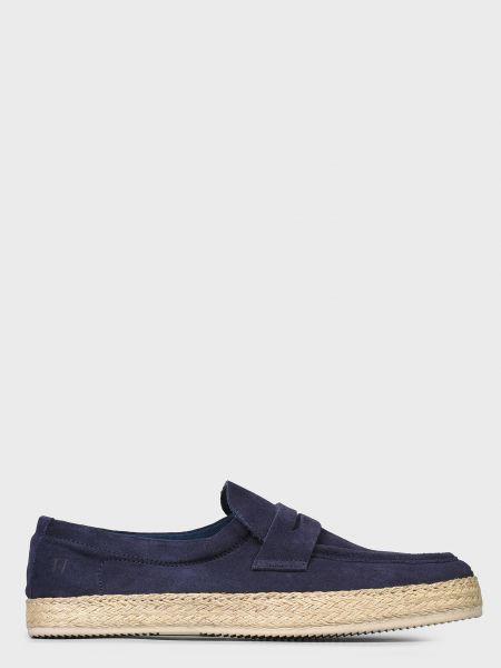 Повседневные синие кожаные эспадрильи Trussardi Jeans