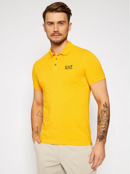 Żółte polo Ea7 Emporio Armani