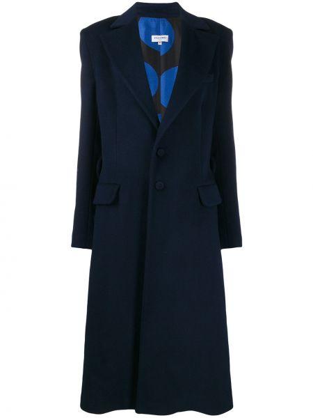 Однобортное коралловое длинное пальто Palomo Spain