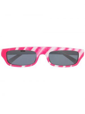 Прямые муслиновые розовые солнцезащитные очки Moschino Eyewear