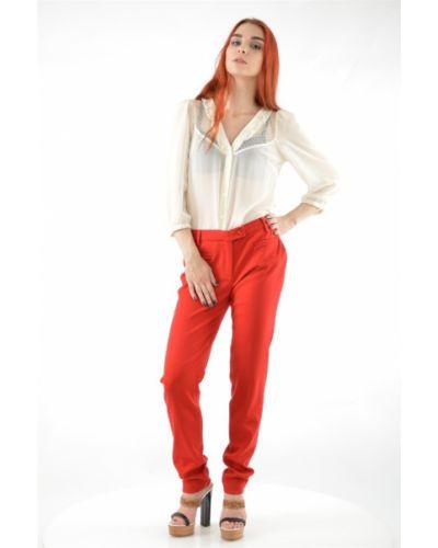 Кашемировые брюки - красные Roccobarocco