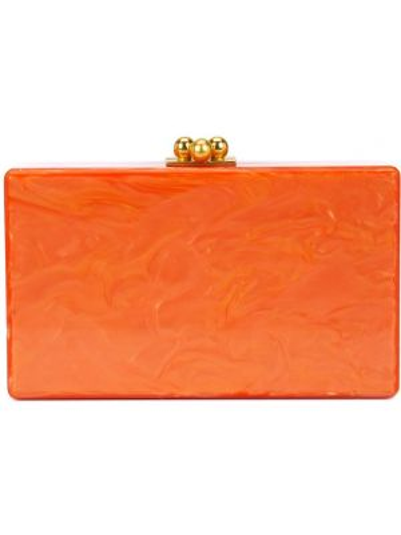 Акриловая оранжевая сумка Edie Parker