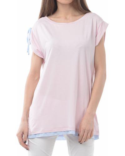 Розовая футбольная футболка Harmont&blaine