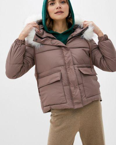 Коричневая теплая зимняя куртка Froggi
